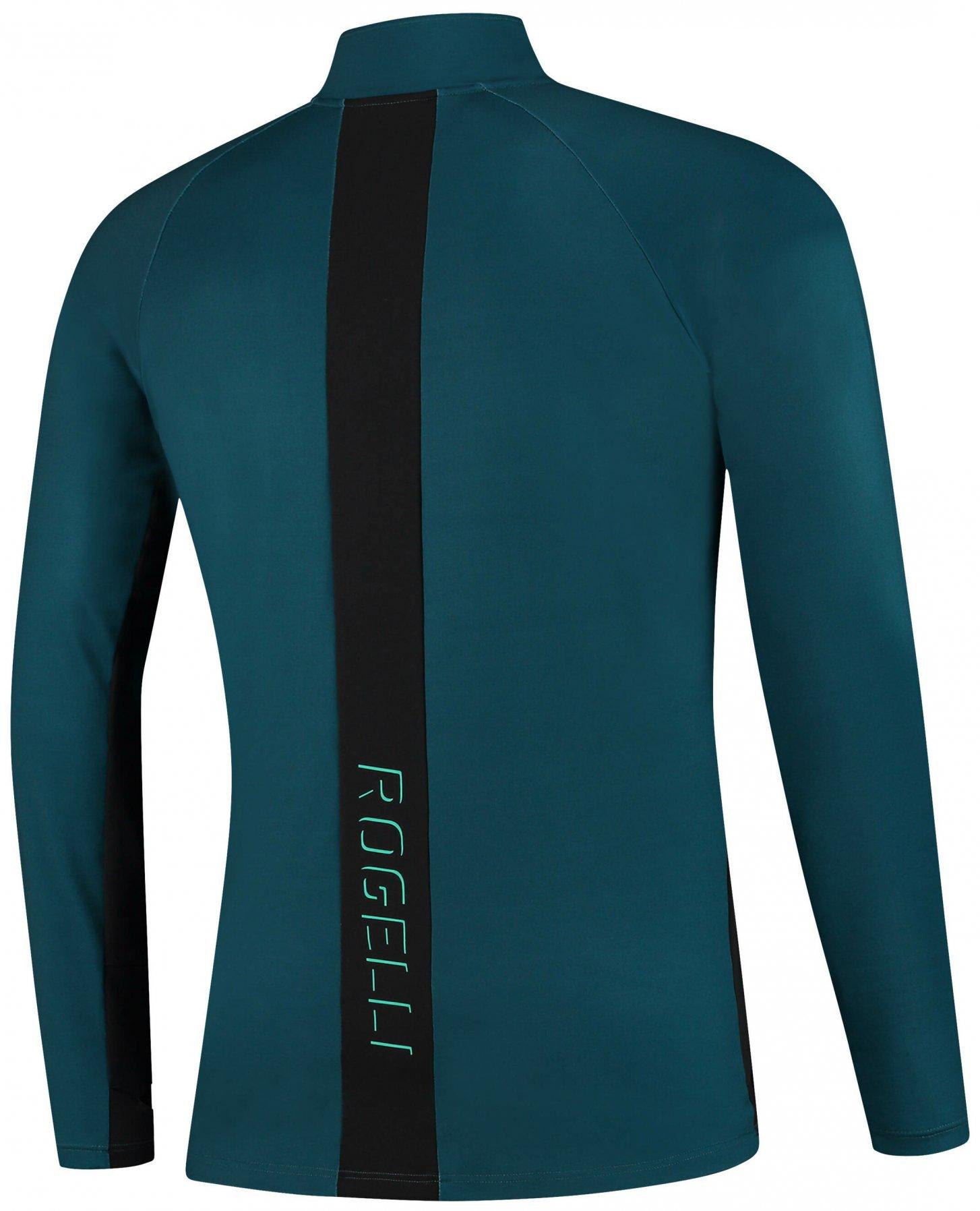 Rogelli steel męska ocieplana koszulka / bluza do biegania, turkusowa - Rozmiar: 2XL
