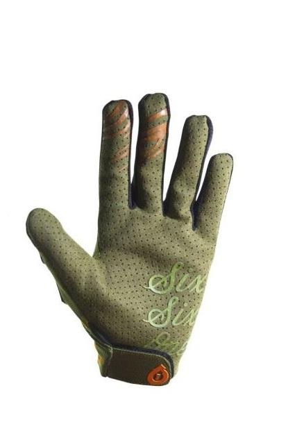 661 rękawiczki rowerowe raji deep forest długi palec green - Rozmiar: L